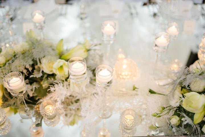 luxusná zimná svadobná výzdoba
