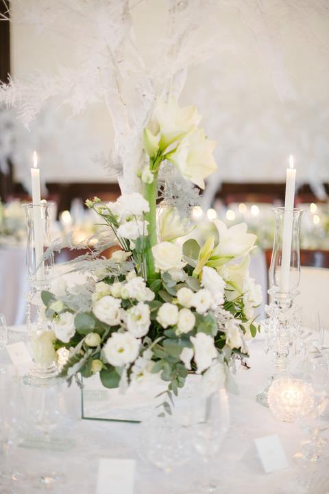 romantické svadobné ikebany