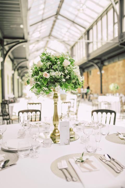 jednoduchá zelená svadobná výzdoba