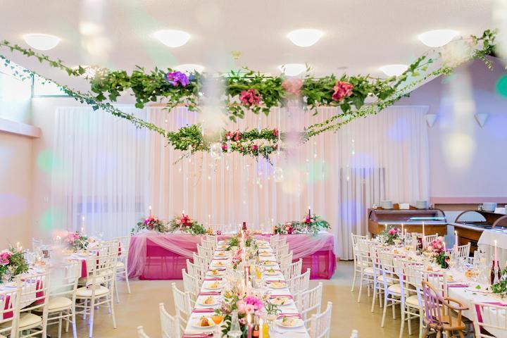 farebná svadobná výzdoba