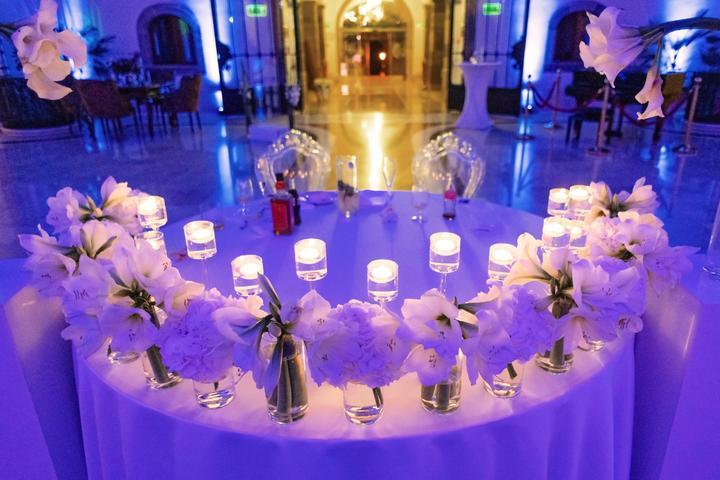 osvetlenie svadobnej sály