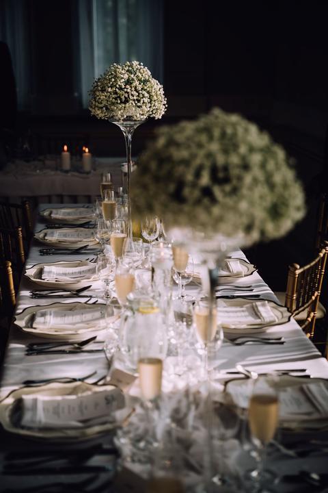 gypsomilková svadobná výzdoba