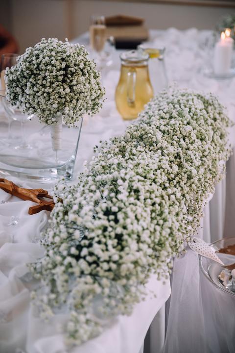 gypsophila vo svadobnej výzdobe