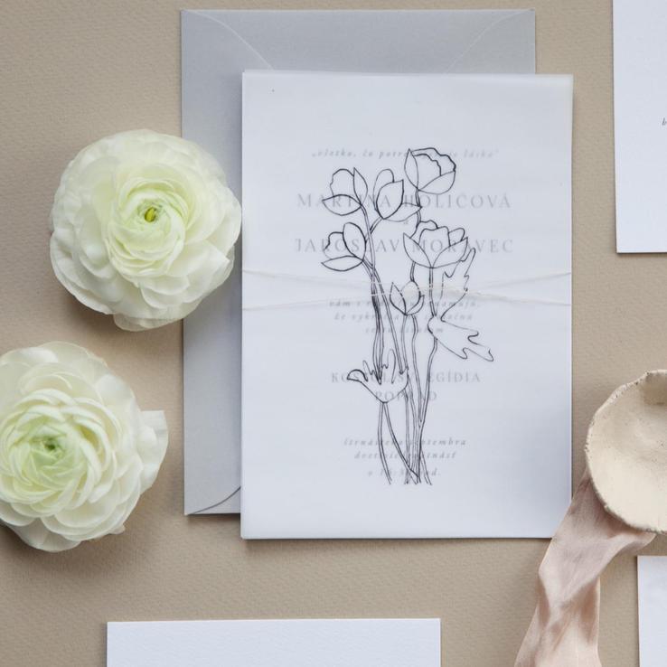 maľované svadobné oznámenia