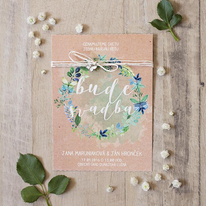kvetinové svadobné oznámenia