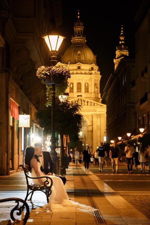 fotenie v Budapešti v noci