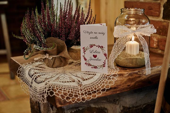 rustikálna svadobná výzdoba