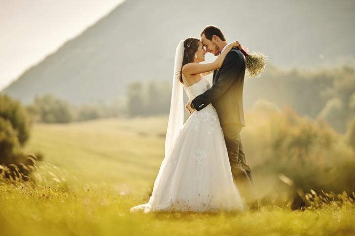 romantické svadobné fotky