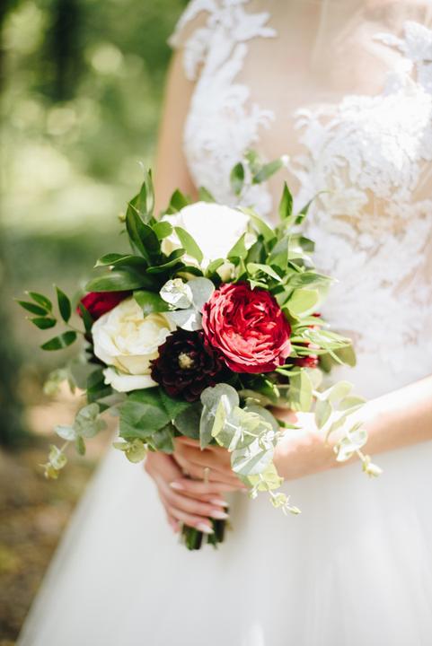 jednoduchá svadobný kytica