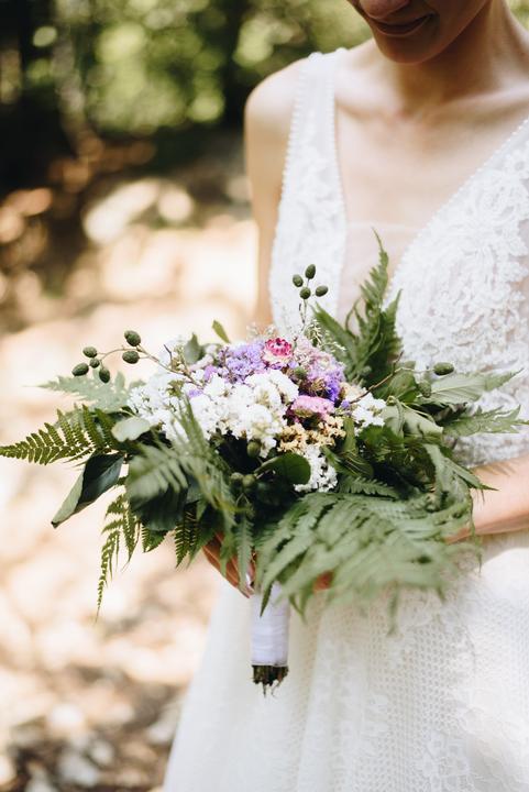 prírodná svadobná kytica