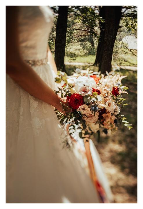 svadobná kytica v boho štýle