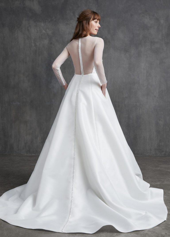 svadobné šaty s dlhým rukávom Kelly Faetanini, model Elizabeth
