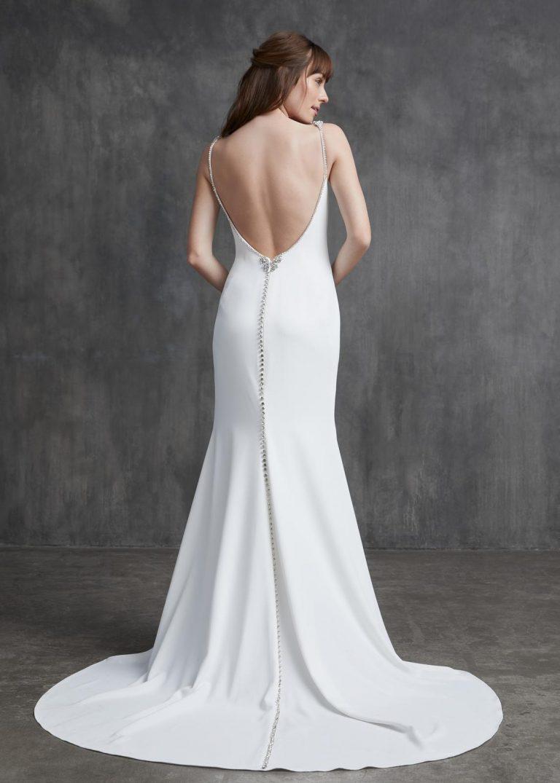 jednoduché svadobné šaty Kelly Faetanini, model Grace