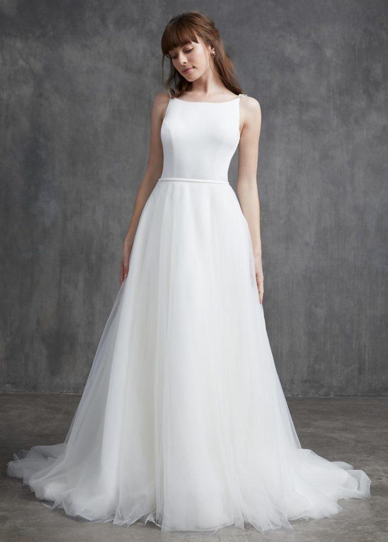 jednoduché svadobné šaty s holým chrbtom Kelly Faetanini, model Grace