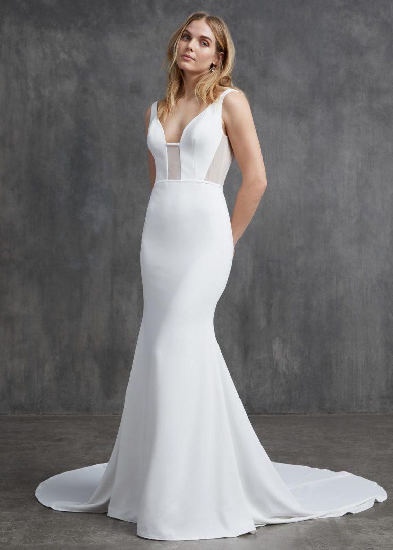 jednoduché svadobné šaty Kelly Faetanini, model Jayne