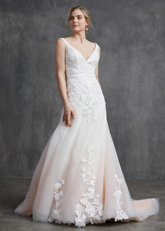 čipkované svadobné šaty Kelly Faetanini, model Lucille