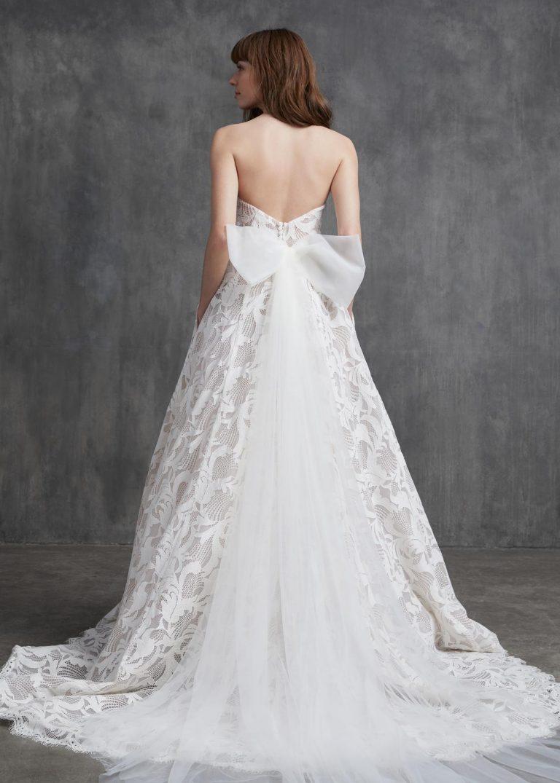 svadobné šaty s mašľou Kelly Faetanini, model Shirley
