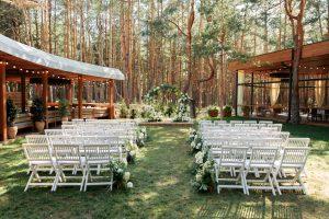 svadba vonku počas leta
