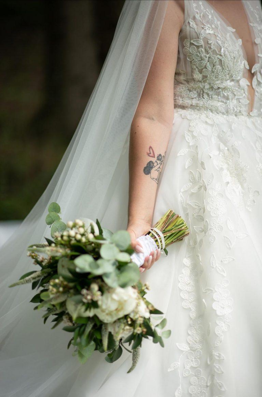 jednoduchá svadobná kytica