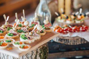 jedlo na svadbe