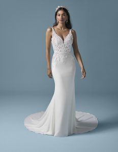 priliehavé svadobné šaty