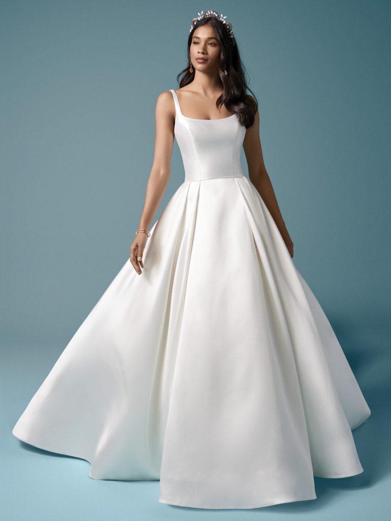 hladké svadobné šaty