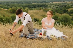 svadobný piknik v prírode