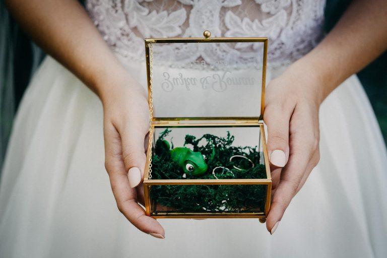krabička na svadobné obrúčky