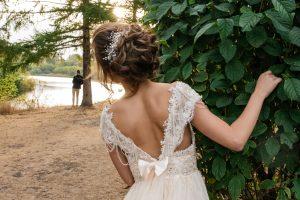 svadobné šaty s mašľou