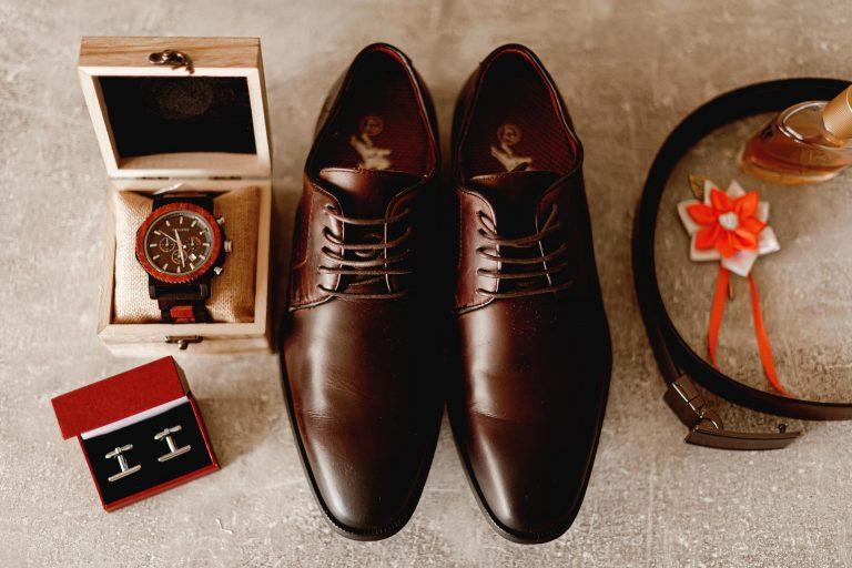 hnedé svadobné topánky pre ženícha
