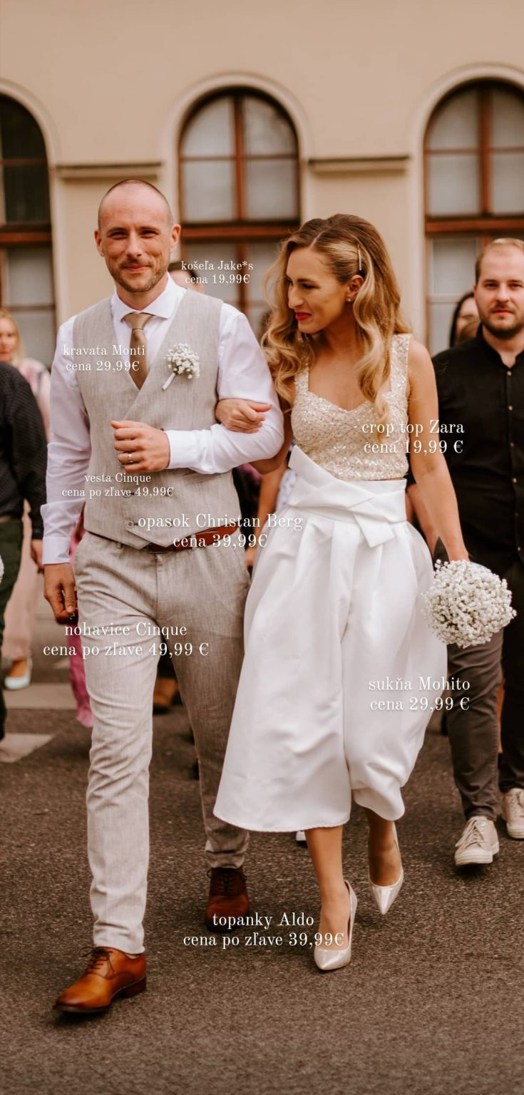 dvojdielne svadobné šaty