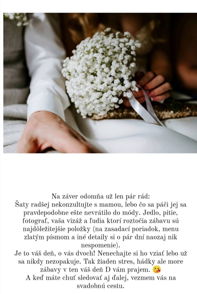 svadba počas koronavírusu